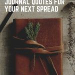 literary bullet journal quotes