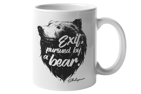 shakespeare exit pursued by bear mug