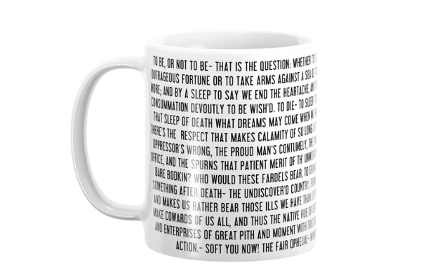 shakespeare hamlet to be or not to be mug
