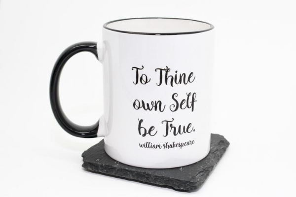 shakespeare mug hamlet to thine own self be true