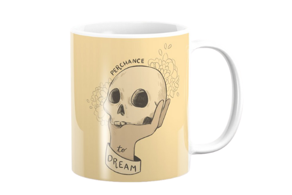 shakespeare perchance to dream hamlet mug