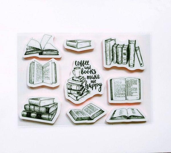 Assorted Bookish Rubber Stamp by MayMayStationery.jpg.optimal