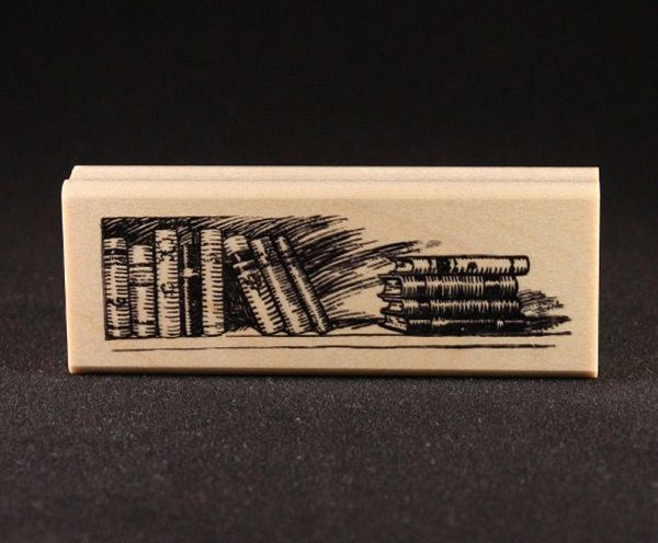 Books Rubber Art Stamp by NBRubberStamps.jpg.optimal