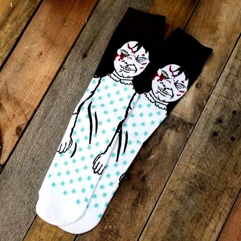 The Exorcist William Peter Blatty Horror Socks