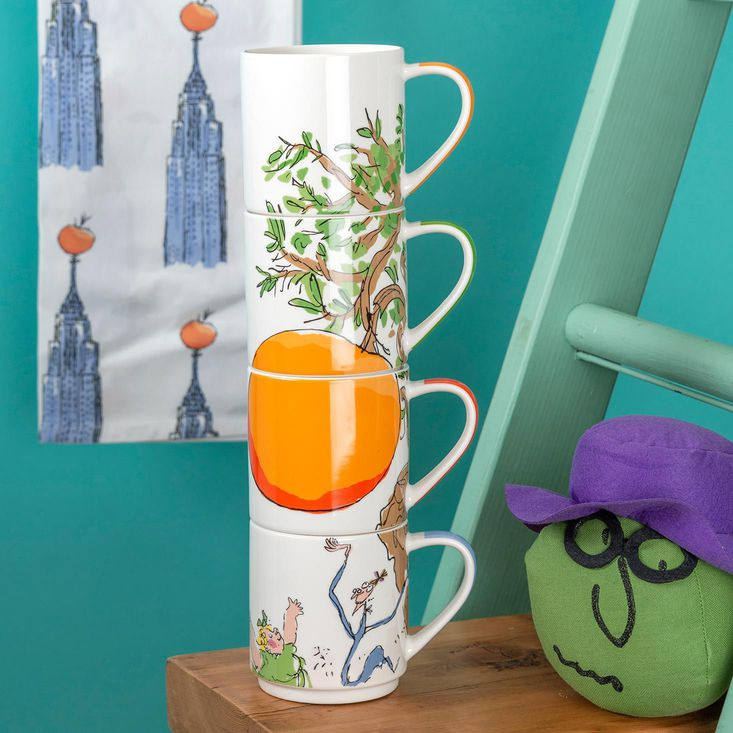 James and the Giant Peach Stacking Mugs