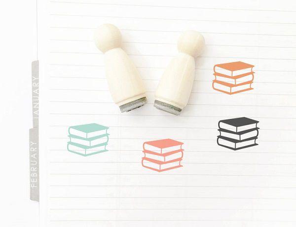 Mini Rubber Books Stamp by PlannerMe 1.jpg.optimal