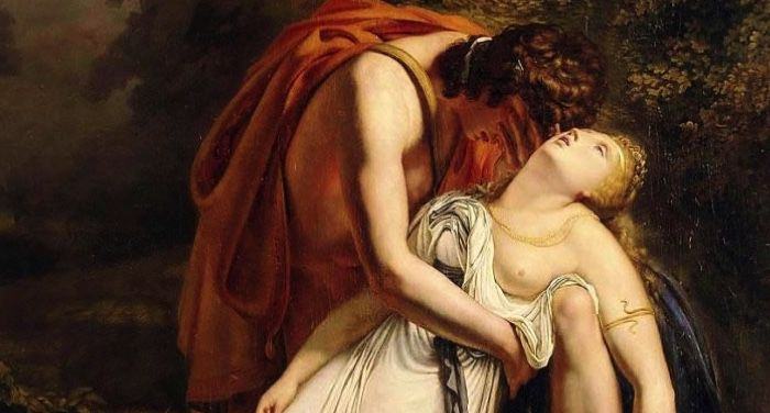 Orpheus Mourning the Death of Eurydice, 1814 painting by Ary Scheffer