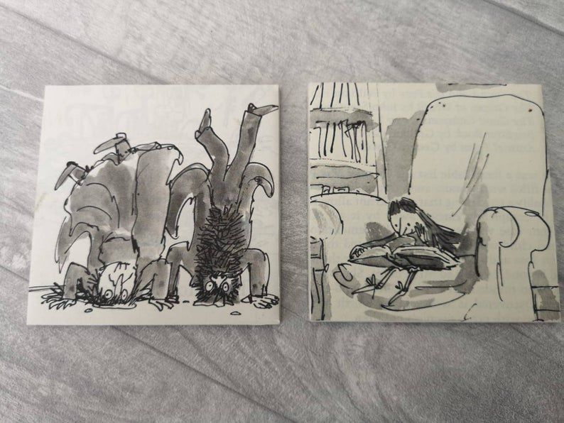 Roald Dahl Book Print Coasters