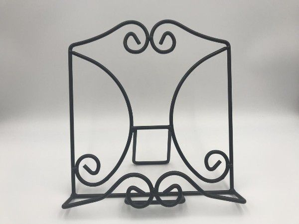 Black Wrought Iron Book Stand