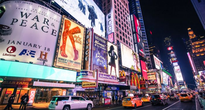 image of New York's Theater District https://unsplash.com/photos/N6t14kV_X68