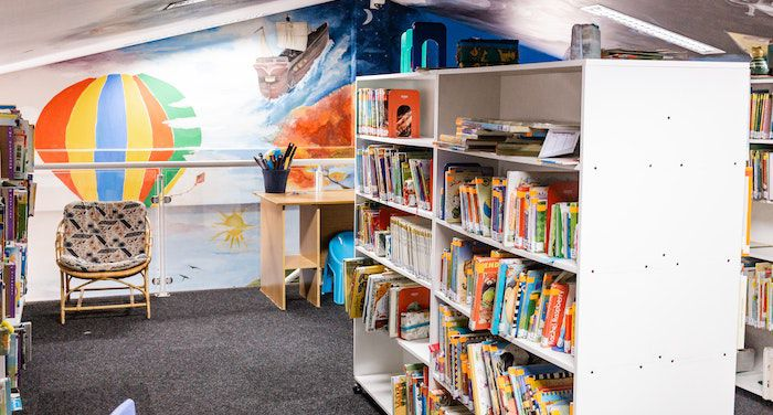 image of bright colored childrens area in the library.jpg.optimal