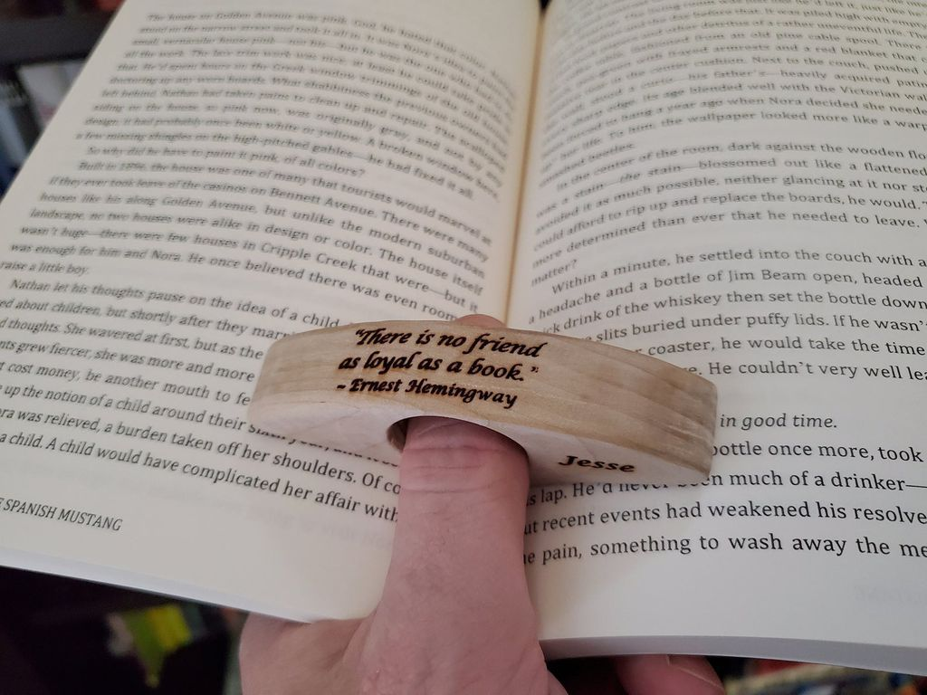 Personalized Thumb Book Holder