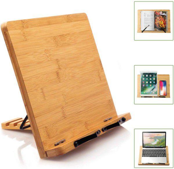 Pipishell Bamboo Book Stand