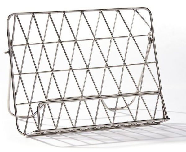 Silver Iron Book Stand