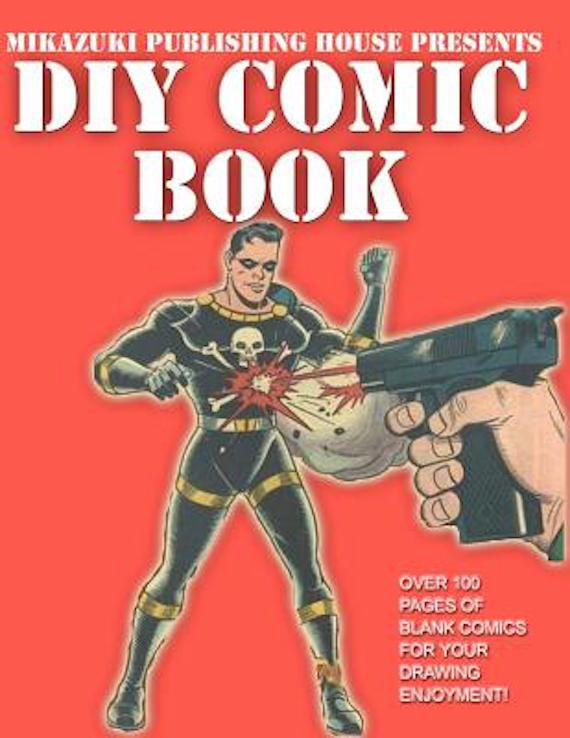 Red cover with a villian being shot at.