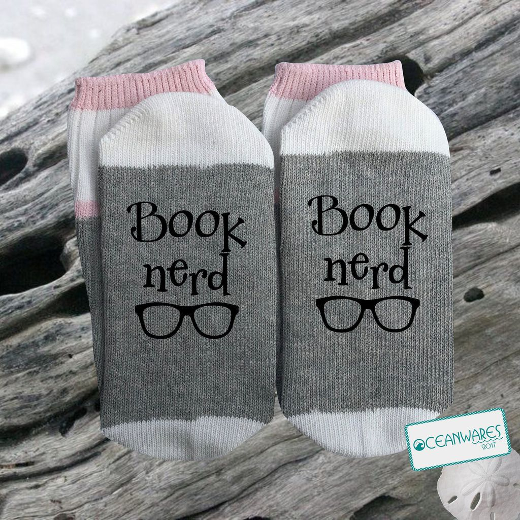 book nerd socks