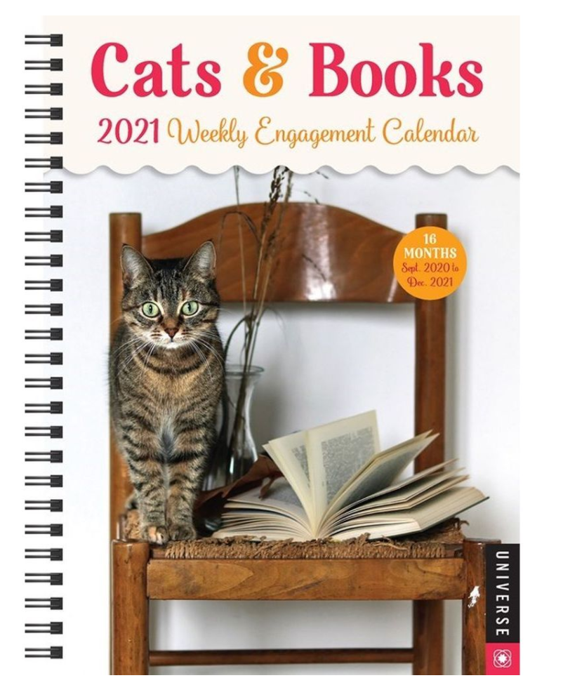 cats and books engagement weekly calendar