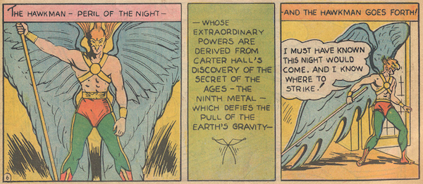 hawkman flash comics 1 1940