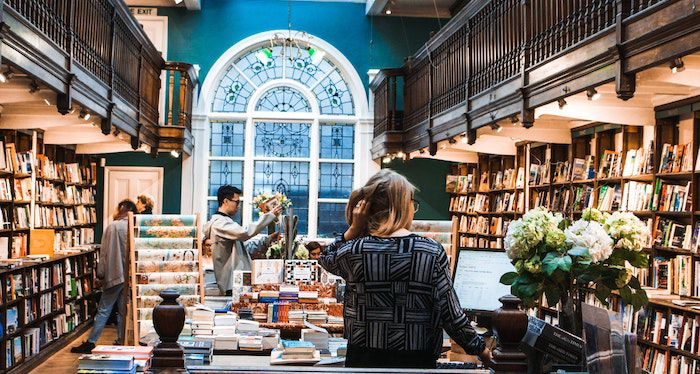 image of the inside of a bookstore