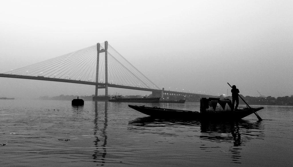 Kolkata, boat on river Hooghly. Photo by Narasimha Kulkarni. Used with permission