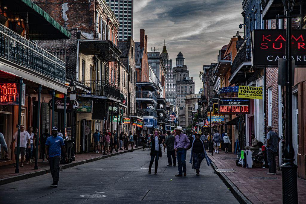 people walking on road in New Orleans