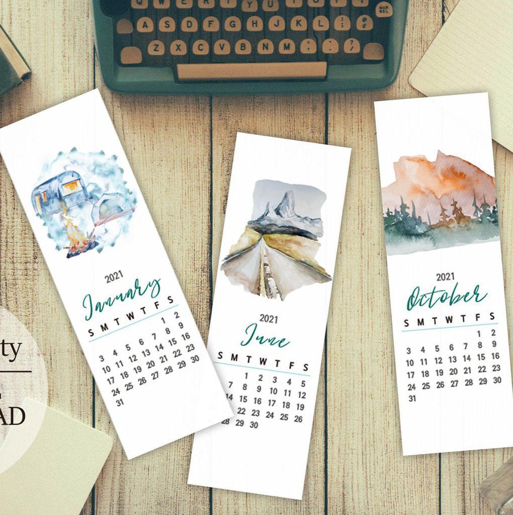monthly bookmark calendar