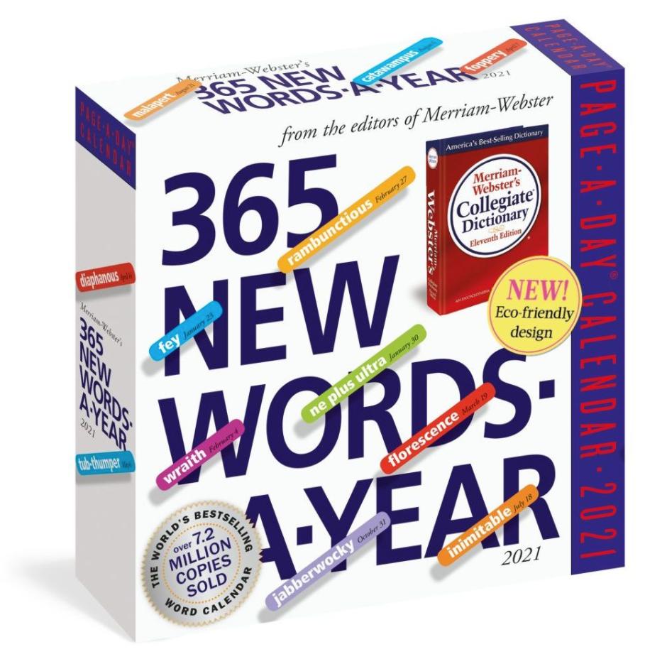 new word a day calendar