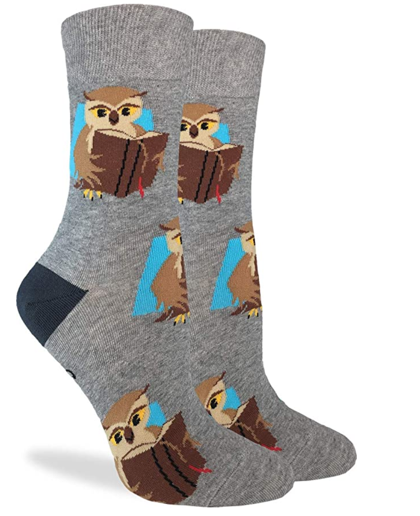 owl book socks