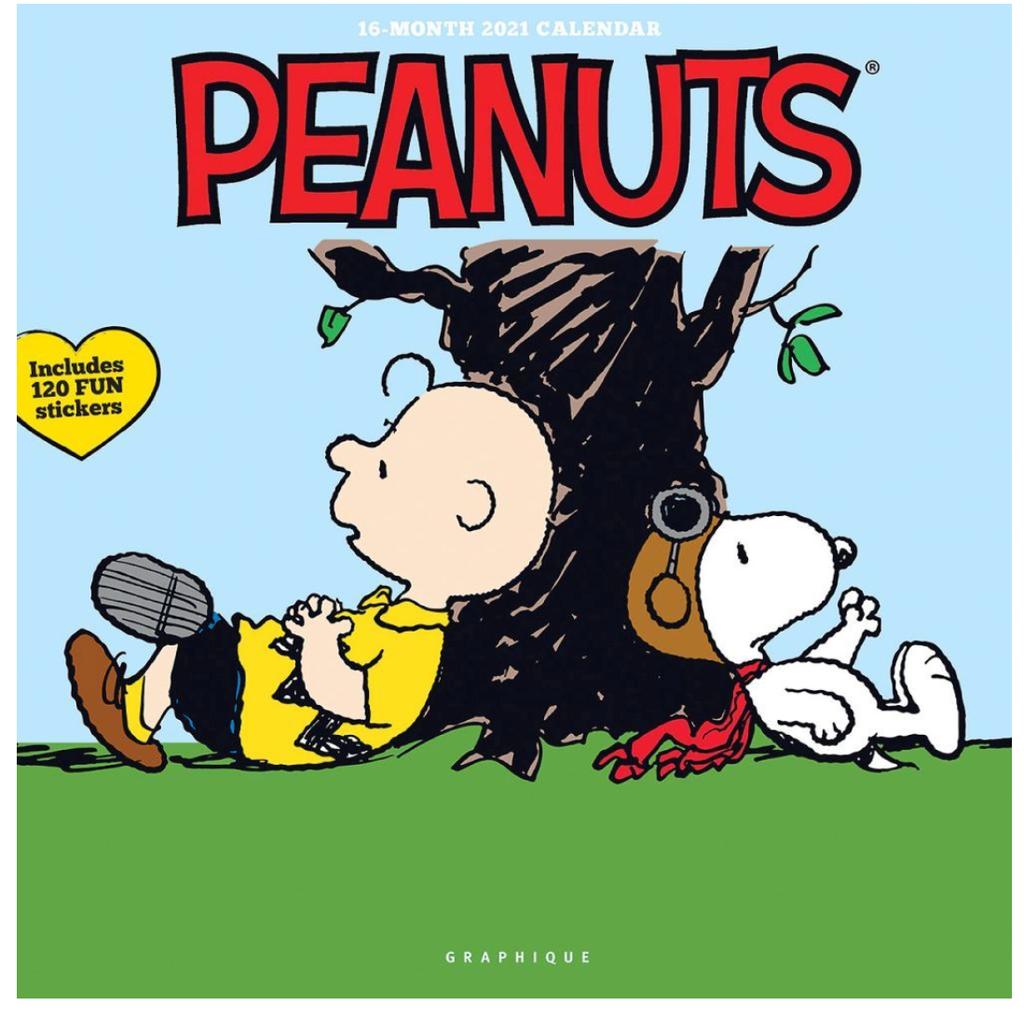 peanuts wall calendar