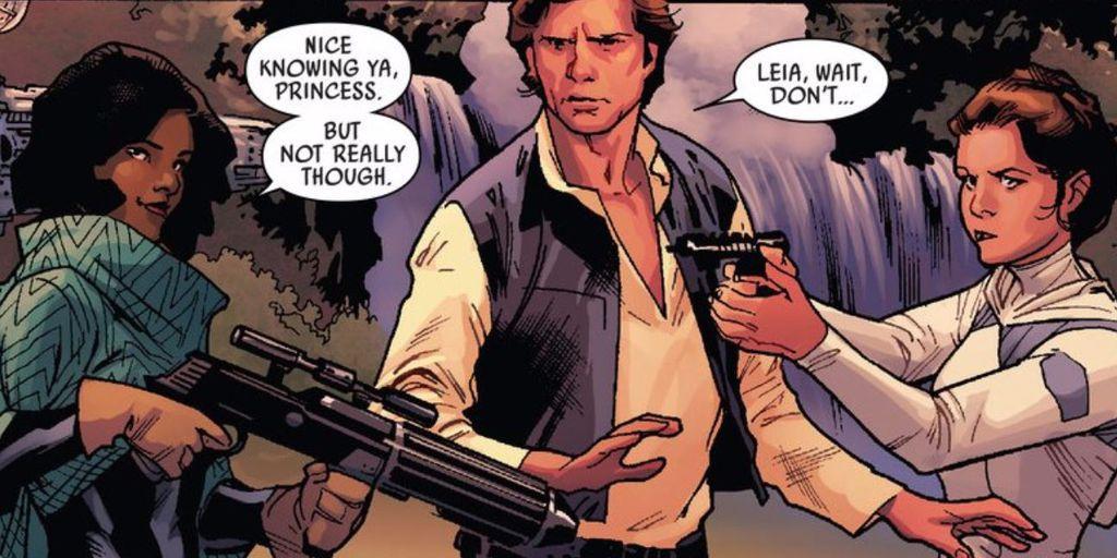 Sana Starros, Han Solo, and Leia