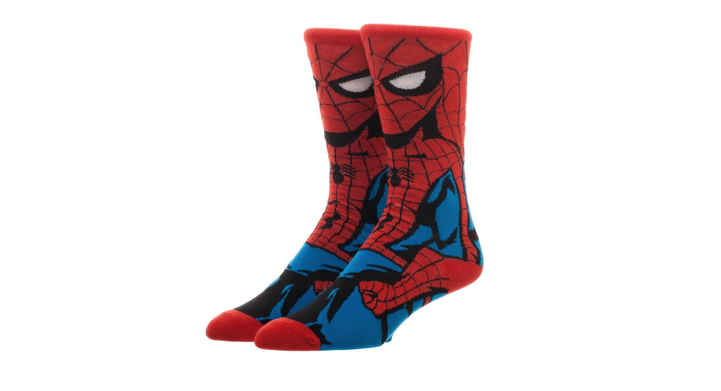spiderman book socks