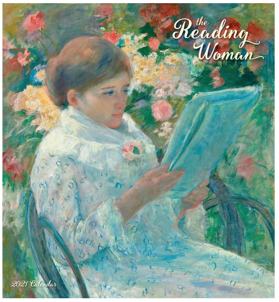 the reading woman monthly calendar