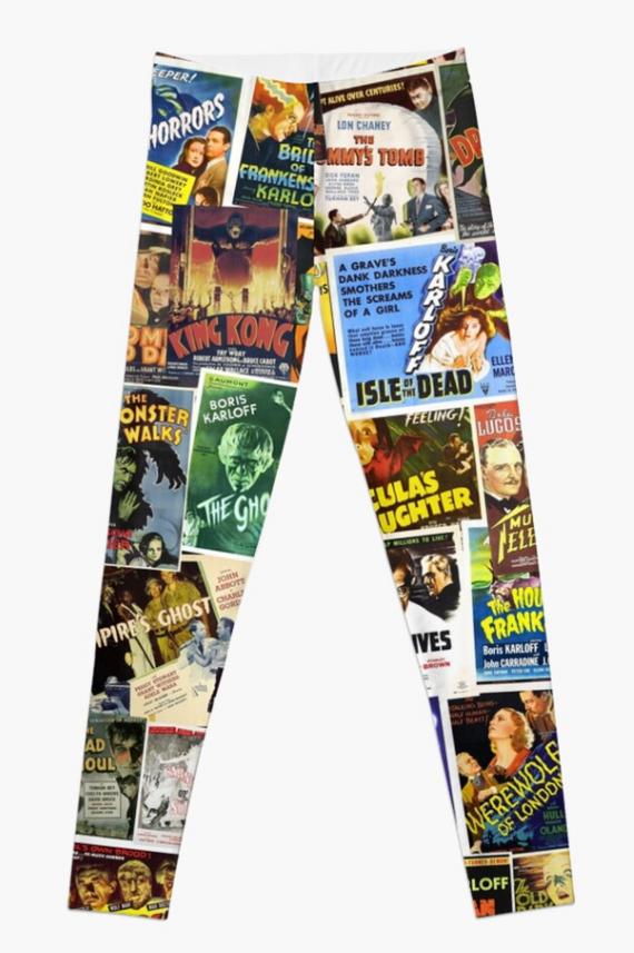 vintage horror movie leggings