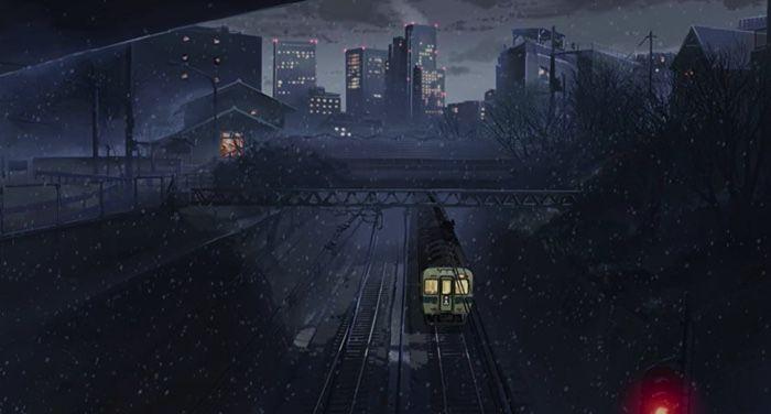 5 centimeters per day film still for winter themed manga