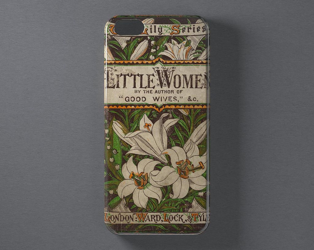 Little Women by Louisa May Alcott book cover phone case