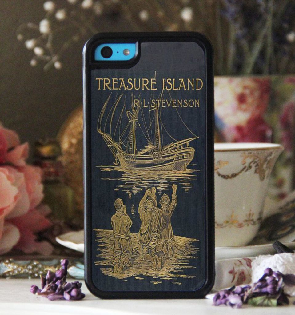 Treasure Island by R.L. Stevenson book cover phone case