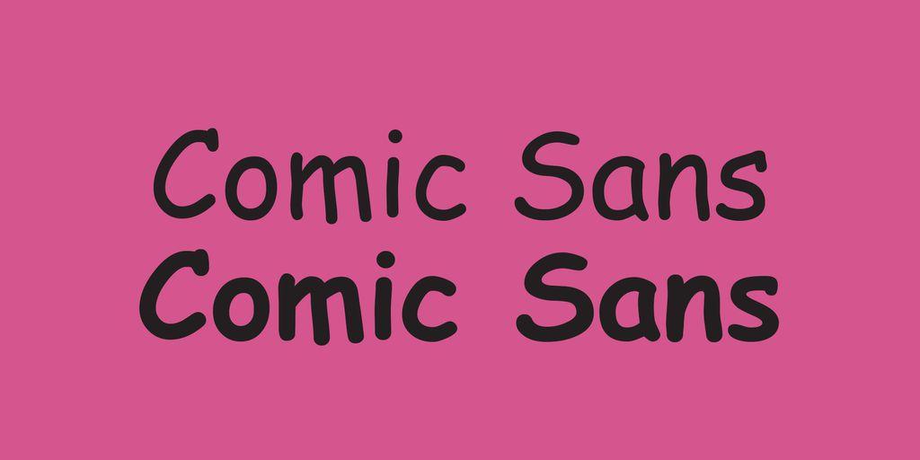 Best Fonts for Books: Comic Sans