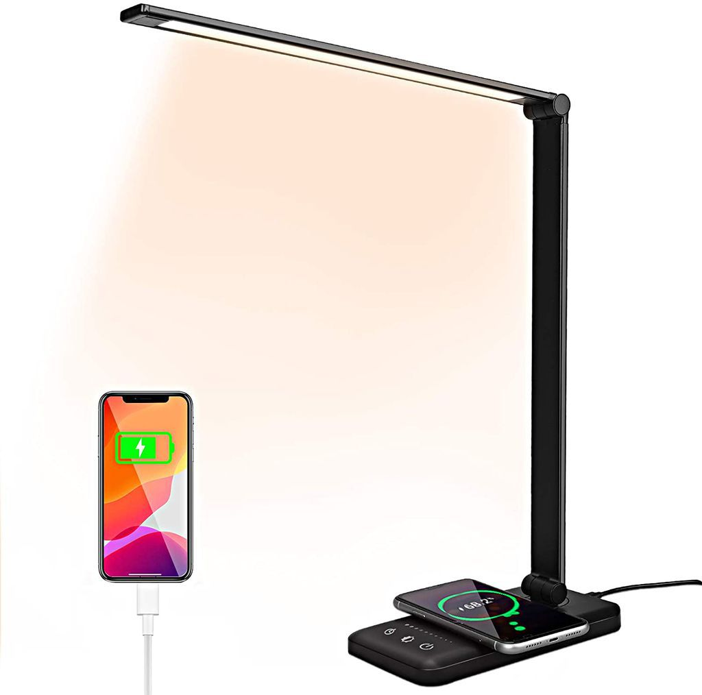 Desk Lamp with Phone Charger and Extra Features