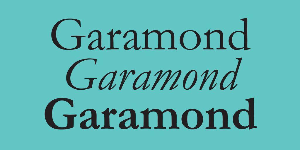 Best Fonts for Books: Garamond