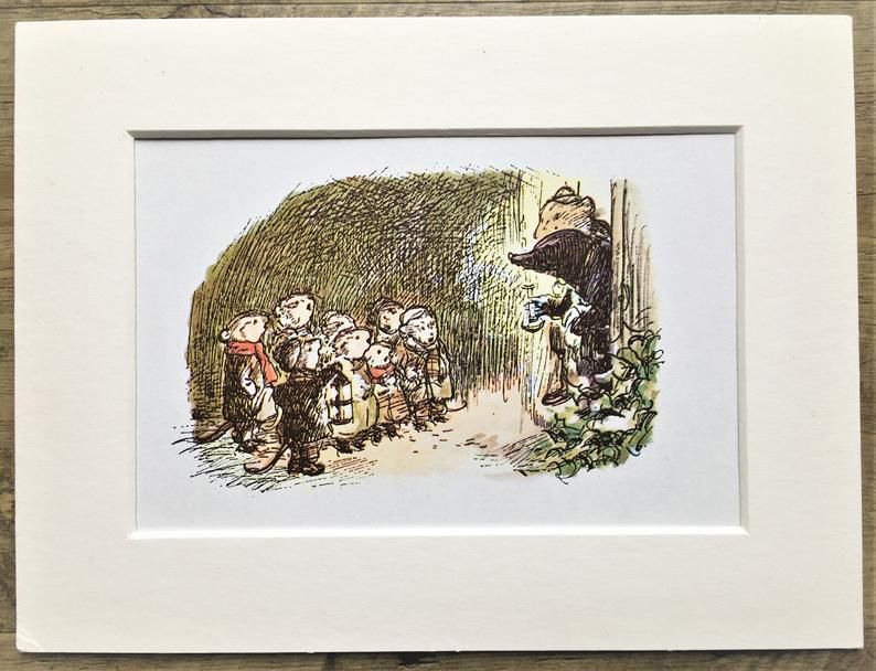 The Wind in the Willows Illustration Print of the Fieldmice Rat and Mole.jpg.optimal