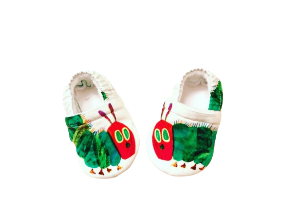 A Very Hungry Caterpillar Baby Booties from Bookish Baby Shower Gift Ideas | bookriot.com