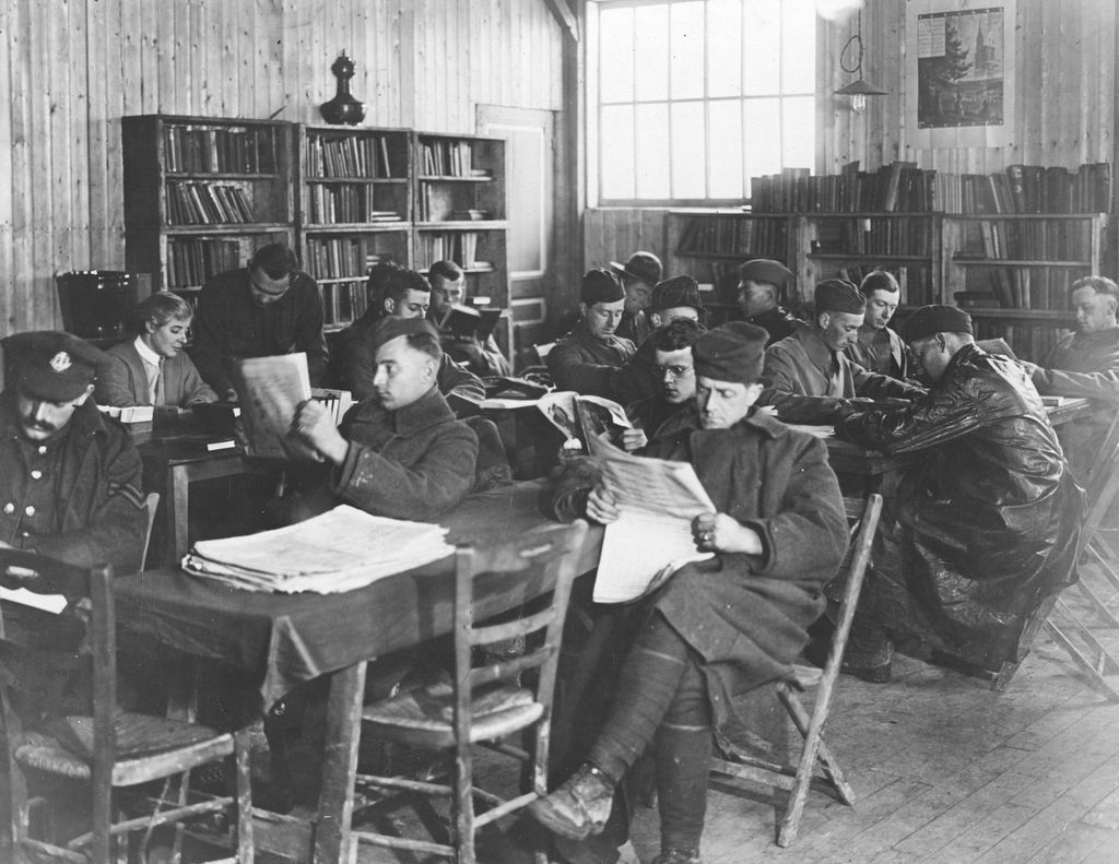 An American Library Association Library in France, From A.L.A Archives. Sourced from National Archives