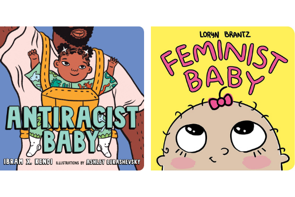 Antiracist Baby and Feminist Baby from Bookish Baby Shower Gift Ideas | bookriot.com