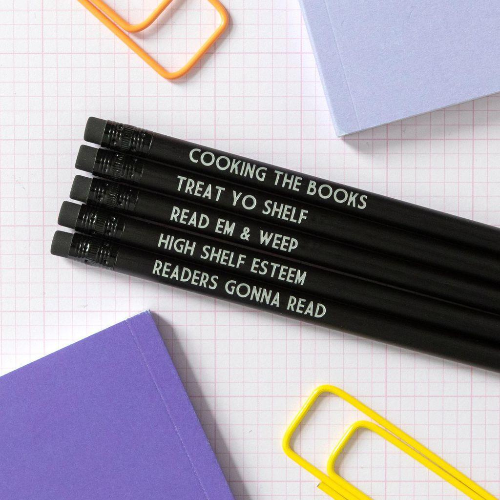 book lover pencils
