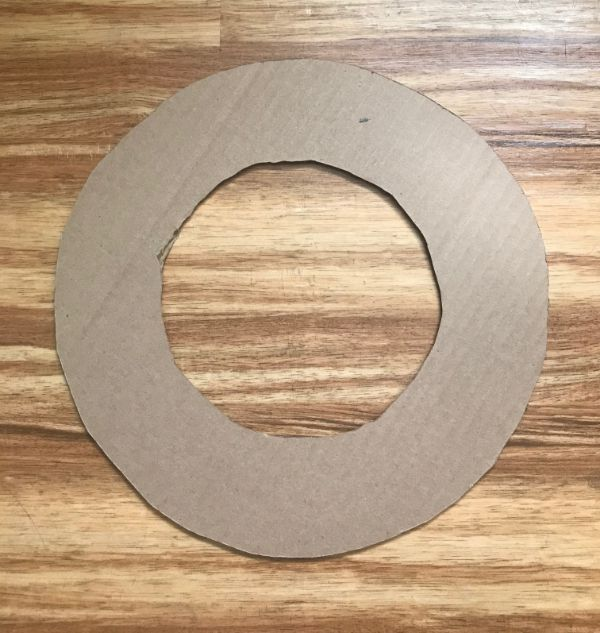 Picture of a cut out cardboard wreath