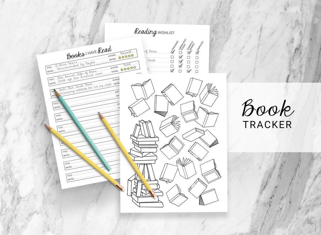 book tracker for bullet journal