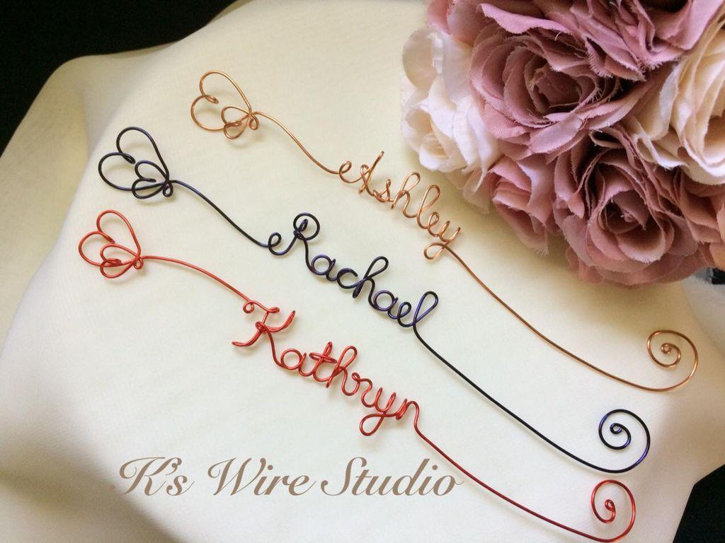 custom wire bookmark