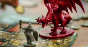 dungeons and dragon game board and figures