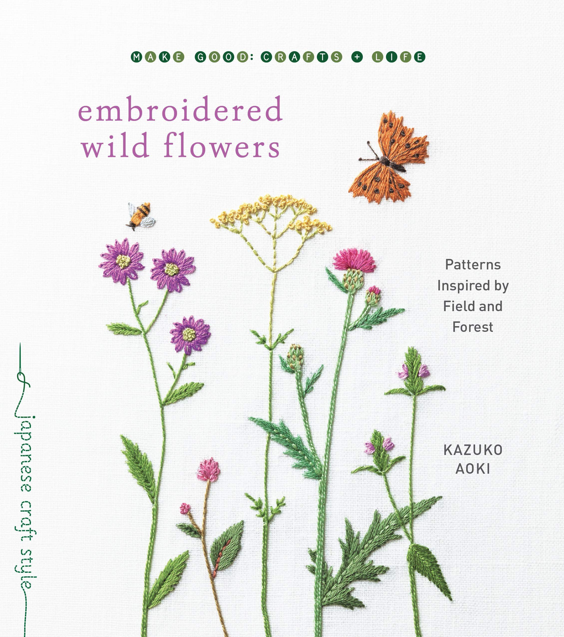 Book cover image for Embroidered Wild Flowers