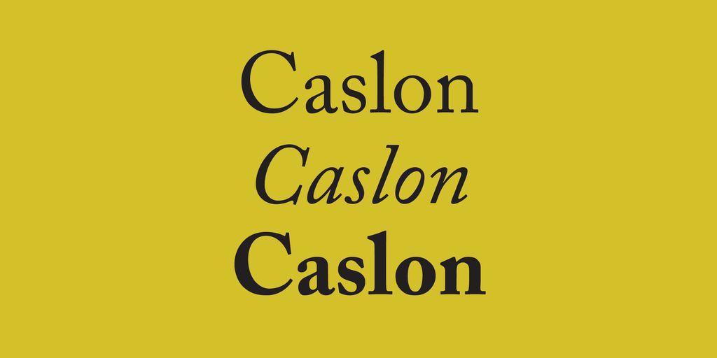Best Fonts for Books: Caslon